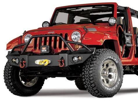 Jeep Winch Bumper Fab Fours Jk07 B1850 Fab Fours Front Winch Bumper In