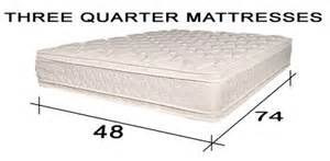 quality three quarter mattresses 48 x 74