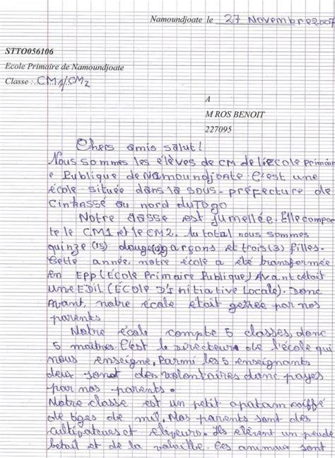 Exemple De Lettre En Anglais Pour Un Correspondant Contes Pour Enfants Lettre Des 233 L 232 Ves Togolais Page 1 224 Lire Fr Hellokids
