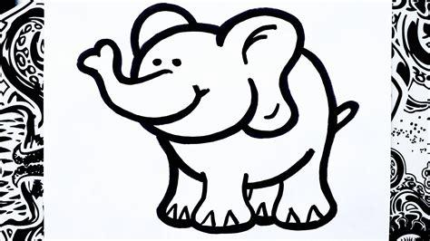 imágenes de elefantes fáciles para dibujar como dibujar un elefante how to draw elephant youtube