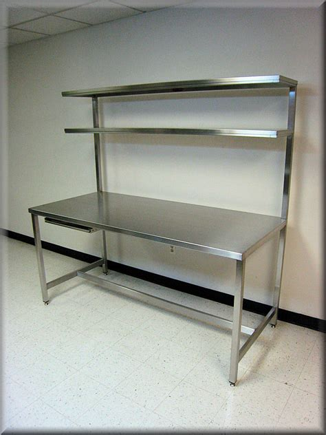 bench shelves rdm stainless steel workbench f 103pl ds ss tech table