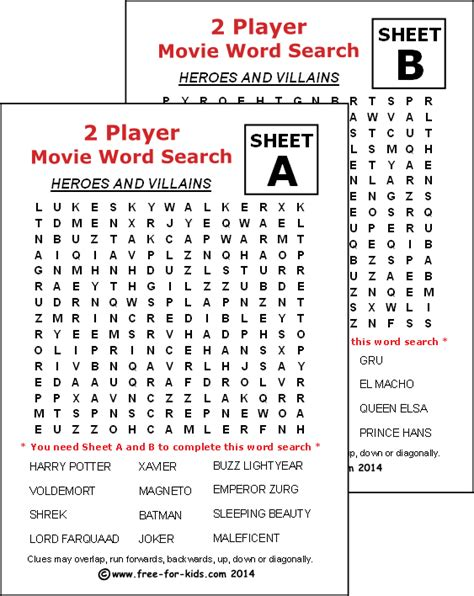 printable word search heroes free printable two player word search puzzles for children