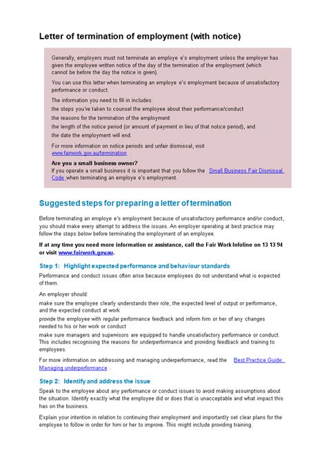 basic employment contract termination letter templates