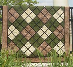 quilt patterns for classic argyle fabric