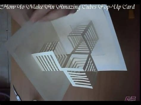 pop up cube card template how to make a cube pop up card videolike