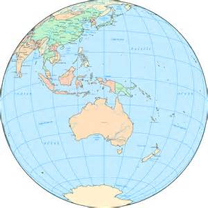 Australia Map Of The World by Australia And Oceania On The World Map Australia And