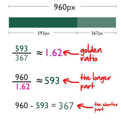 web layout golden ratio golden ratio in web design online course