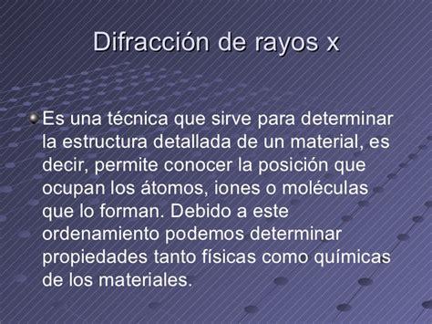 rayos x difraccion rayos x