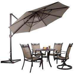 11 Offset Patio Umbrella 11 Ft Offset Cantilever Umbrella Outdoor Patio Umbrella W Cross Basse Cover Ebay