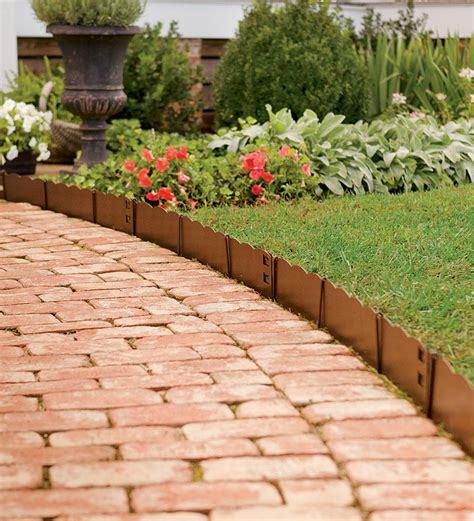 home depot flower bed edging decor cheap landscape border landscape edging ideas