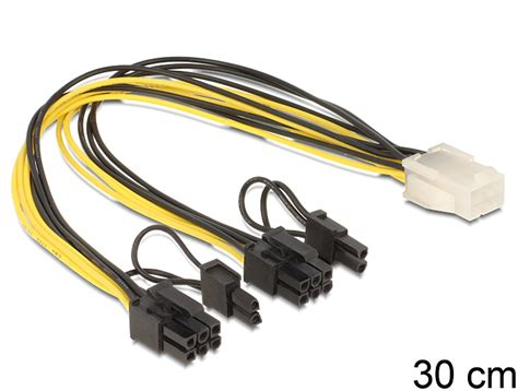 8 Pin To 2x 6 2 Pin 1 tragant products 83433 delock pci express power cable 6