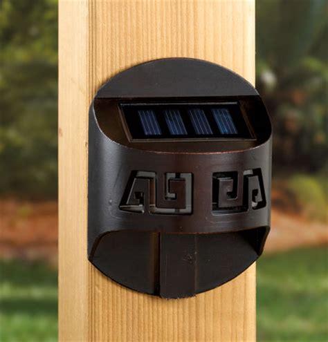 Solar Lights For Deck Railings Labrynth Solar Accent Railing Light