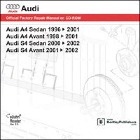 how to download repair manuals 2011 audi s4 user handbook audi a4 s4 1996 2002 repair manual on dvd rom