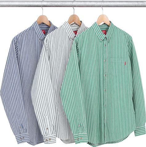 Fashion 8848 Kualitas Seprem supreme striped denim twill shirt supreme aw 14 shirts and twill shirt
