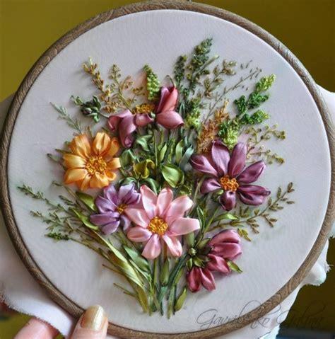 ribbon embroidery embroidery ribbon embroidery pinterest