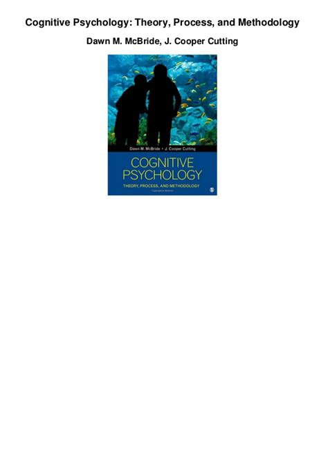 cognitive psychology theory process and methodology books cognitive psychology theory process and methodology pdf
