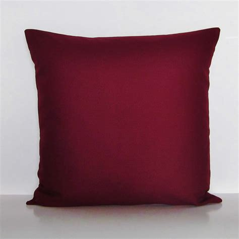 Burgundy Pillows Decorative by Burgundy Pillow Cover Decorative Throw Accent Pillow