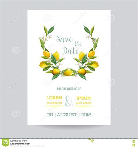 lemon themed wedding invitations save the date wedding invitation or congratulation card