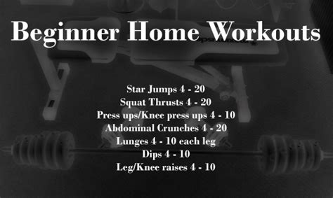 home workouts beginner workout routines