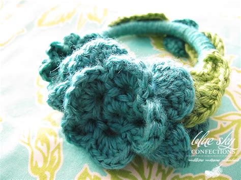 Blue Sky Confections: Make Your Own Crocheted Bangle