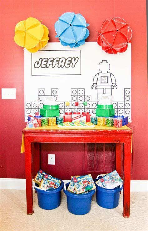 lego themed birthday decorations kara s ideas lego themed birthday kara s