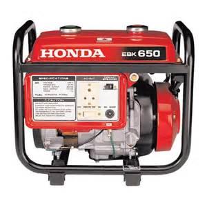 Honda Generator Set Price Honda Portable Gensets Ebk650 Review Honda Portable
