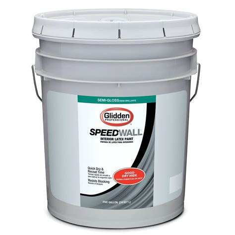glidden professional 5 gal swiss coffee semi gloss interior paint gps 5010 05 the home depot