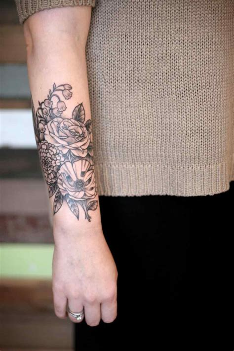 flower tattoos on forearm flower forearm tattoos sparkassess