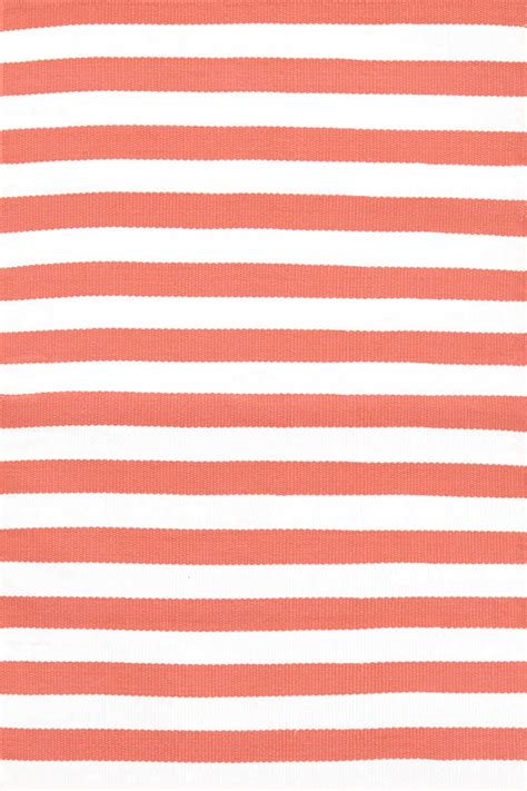 Striped Outdoor Rugs Coral White Striped Indoor Outdoor Rugs Dash Albert Trimaran