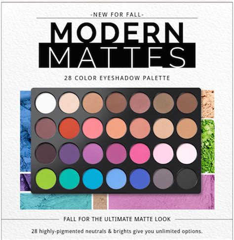Bh Cosmetics Modern Mattes 28 Color Eyeshadow Palet bh cosmetics modern mattes 28 color eyeshadow palette ebay