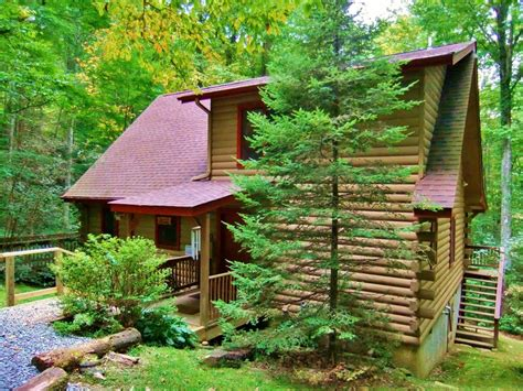 Pa Cabin Rentals With Tub by Ski Free Log Cabin Rushing Creek Vrbo