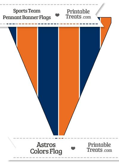 astros colors astros colors pennant banner flag printable treats
