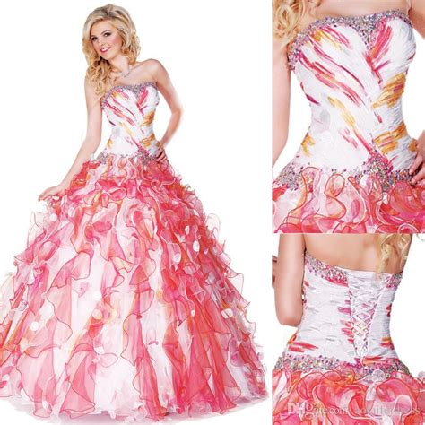 7 Sassy Strapless Dresses by Sassy Colorful Quinceanera Dresses 2016 Gown Beaded