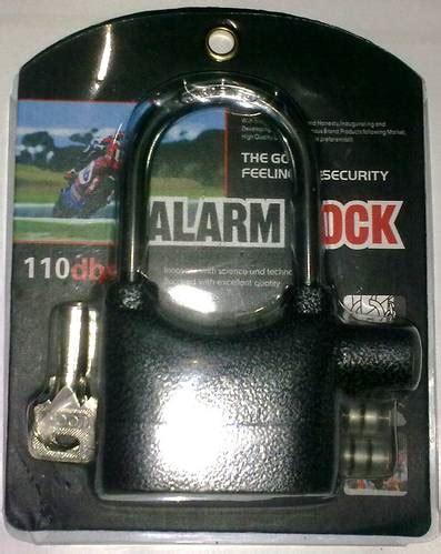 Gembok Alarm Motor jual gembok alarm panjang