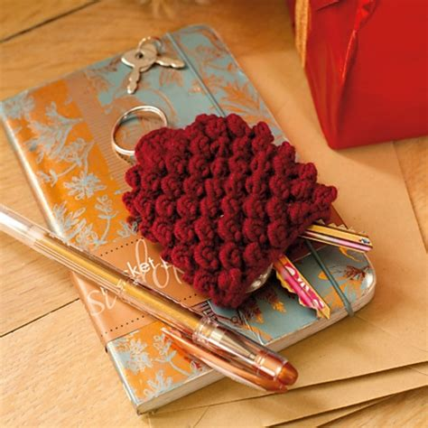 pattern crochet key cover this bobble stitch knitted key cover protects your coat