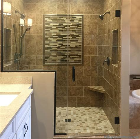 moline il bath remodel with warm finishes