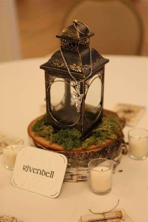 Rivendell (Lord of the Rings) table centerpiece   My Geeky