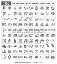 Car Light Symbols Explained Temporaria Stock Vectors Vector Clip