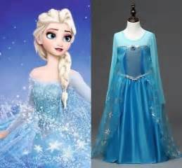kids girls clothes disney elsa frozen dress costume