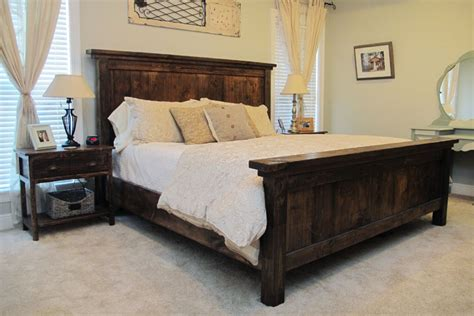 pottery barn king bed diy pottery barn farmhouse bed diystinctly made