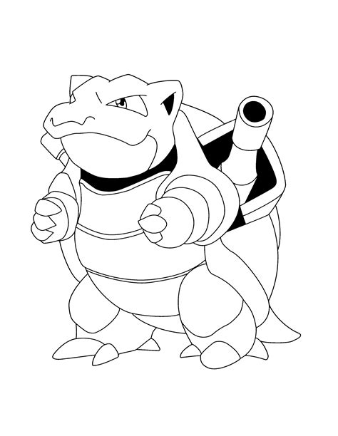 pokemon coloring pages blastoise free coloring pages of blastoise mega