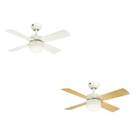 ceiling fan colosseum white with led lighting dimmable and