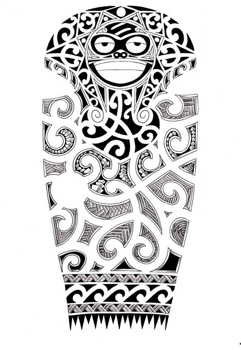 designing a tattoo sleeve template maori sleeve designs