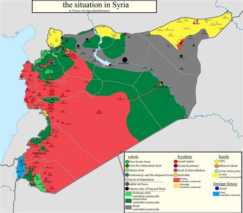 syrian civil war map template syria template map