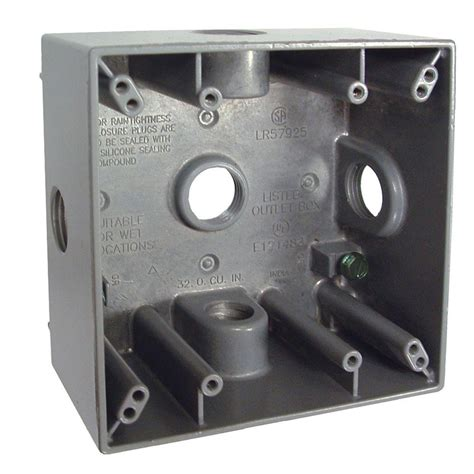 Box Bell A 1 bell 2 weatherproof box with five 1 2 in outlets