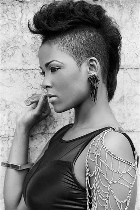 mohawk short hairstyles for black women short hairstyles