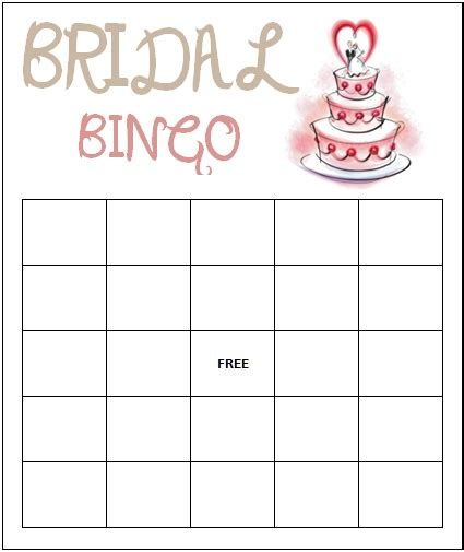 bridal shower bingo card template bridal bingo template peerpex