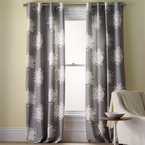 contemporary drapery panels queen anne s lace printed panel contemporary curtains