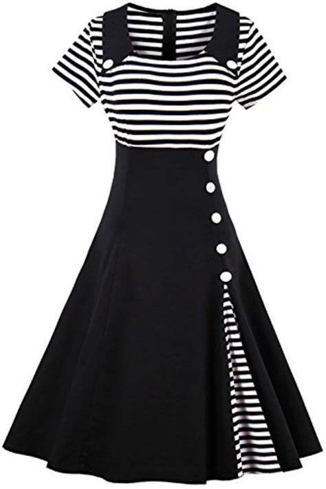 swing kleid schwarz lang kleider misshow in schwarz f 252 r damen