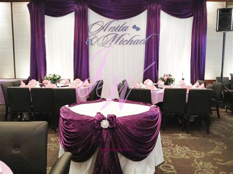 joyce wedding services purple decoration  weddings